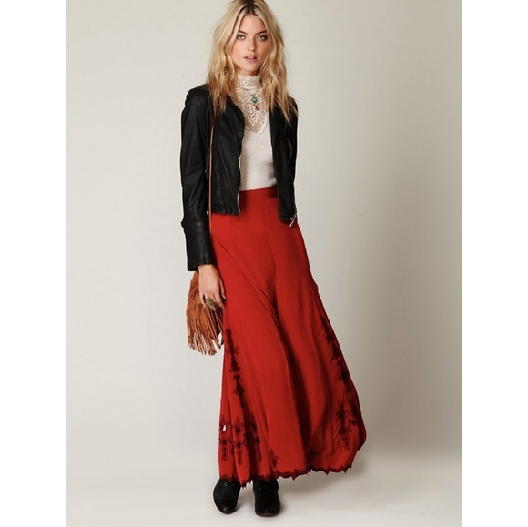 b2260fb1d4 Free People Dresses & Skirts - FREE PEOPLE Fleur Godet Maxi Skirt